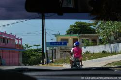 Sign that points tot he Centro section of Isla Mujeres.jpg