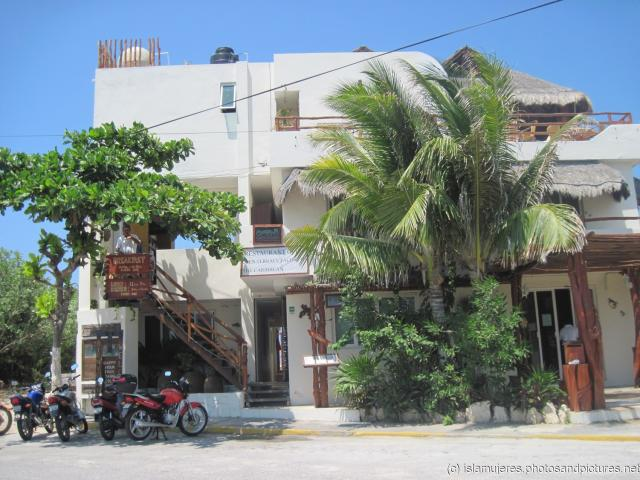 Three story white building in Isla Mujeres near El Centro on the eastern end.jpg