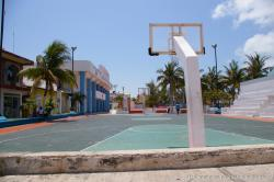 Basketball court at Isla Mujeres City Hall.jpg