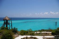 Zip lines that traverse the ocean waters in Isla Mujeres near Punta Sur.jpg