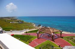 Garrafon Star Pavillion as viewed from the top of the Punta Sur light house in Isla Mujeres.jpg