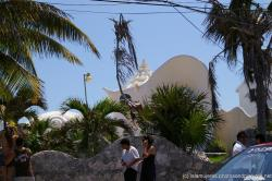 Interesting home with corkscrew like conch shell top in Isla Mujeres.jpg