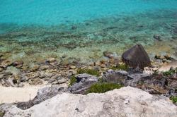 Punta Sur Cliff view of Rocky beach area and crystal clear turquoise waters off of Isla Mujeres.jpg