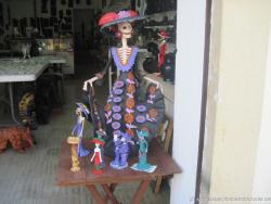 Dressed up skeleton figure outside a shop in Isla Mujeres.jpg