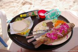 Fried fresh fish dish from Tarzan's at Playa Norte Isla Mujeres.jpg