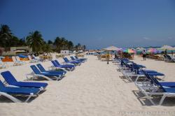 Rows of beach chairs at Isla Mujeres Playa Norte.jpg