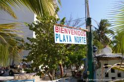 Welcome to Playa Norte sign in Isla Mujeres.jpg